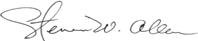 Steven Allen's signature